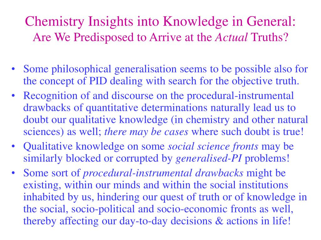 Chemistry Insights into