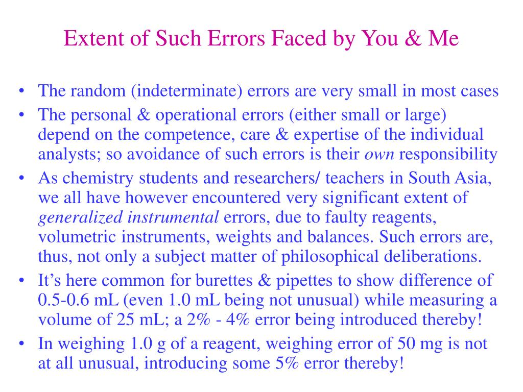 Extent of Such Errors Faced by You & Me