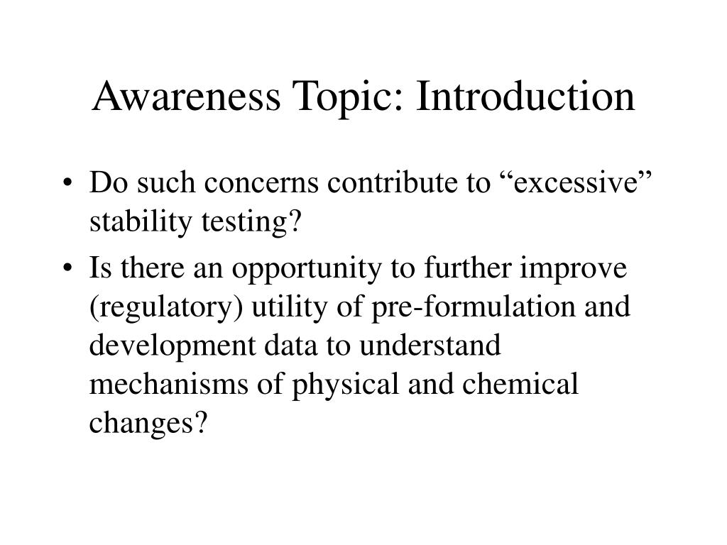Awareness Topic: Introduction