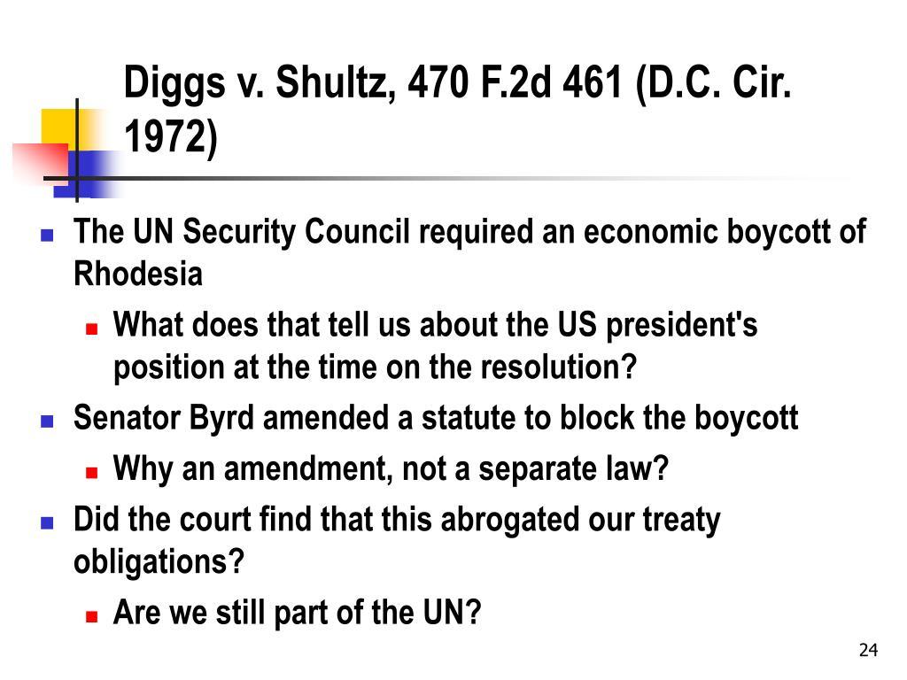 Diggs v. Shultz, 470 F.2d 461 (D.C. Cir. 1972)