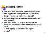 enforcing treaties
