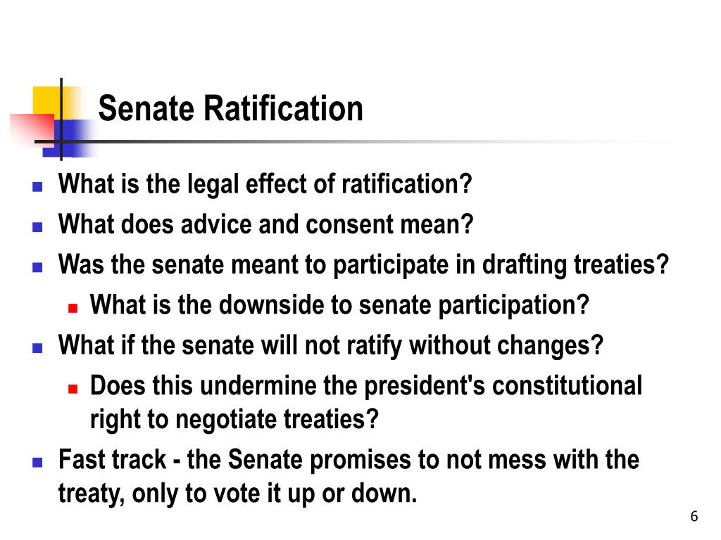 Senate Ratification