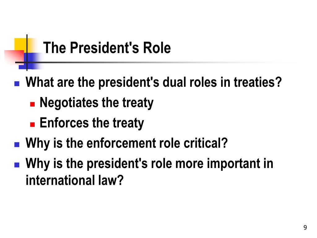 The President's Role