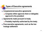 types of executive agreements