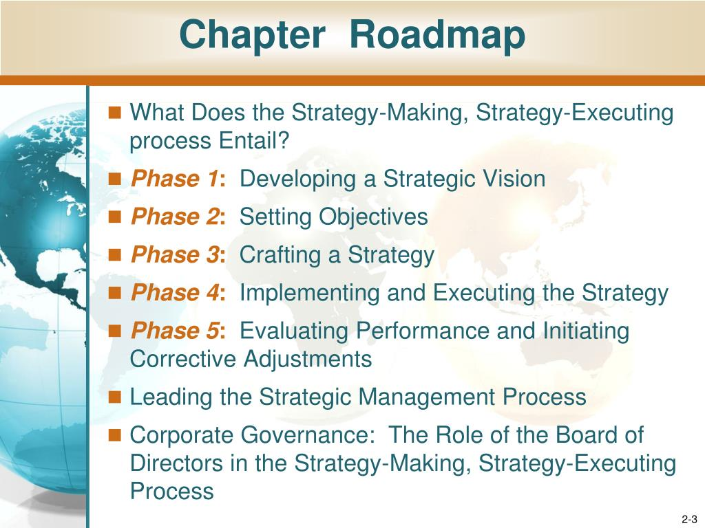 process for crafting a strategy Most organizations do a good job of establishing strategic objectives and of  crafting a strategy that is designed to achieve these objectives.