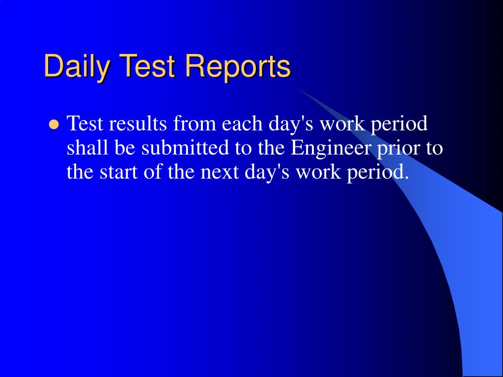 Daily Test Reports