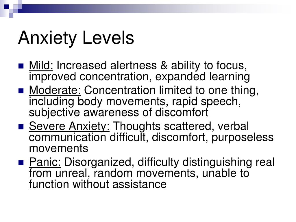 Anxiety Levels