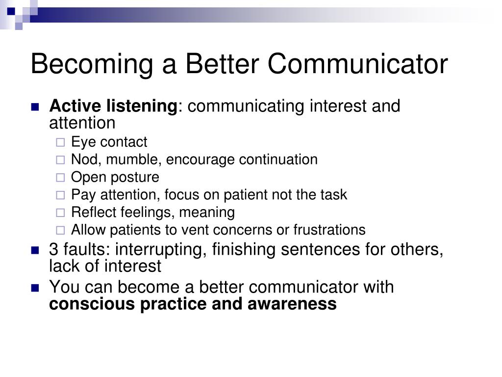 Becoming a Better Communicator