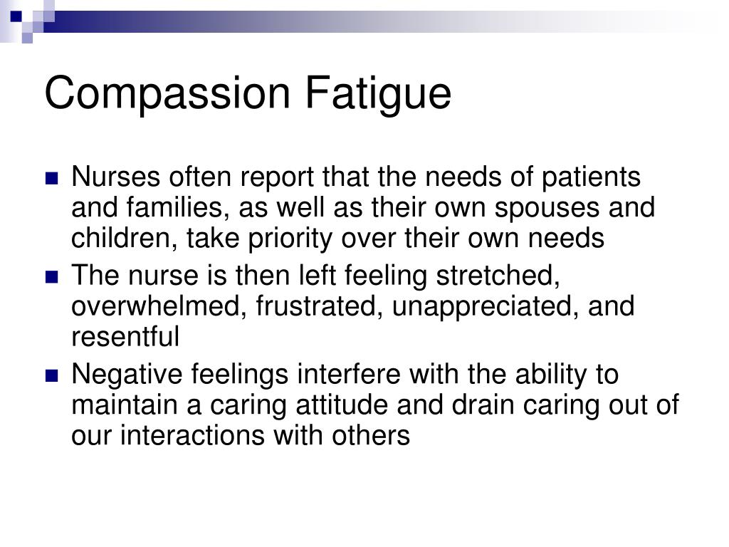 Compassion Fatigue