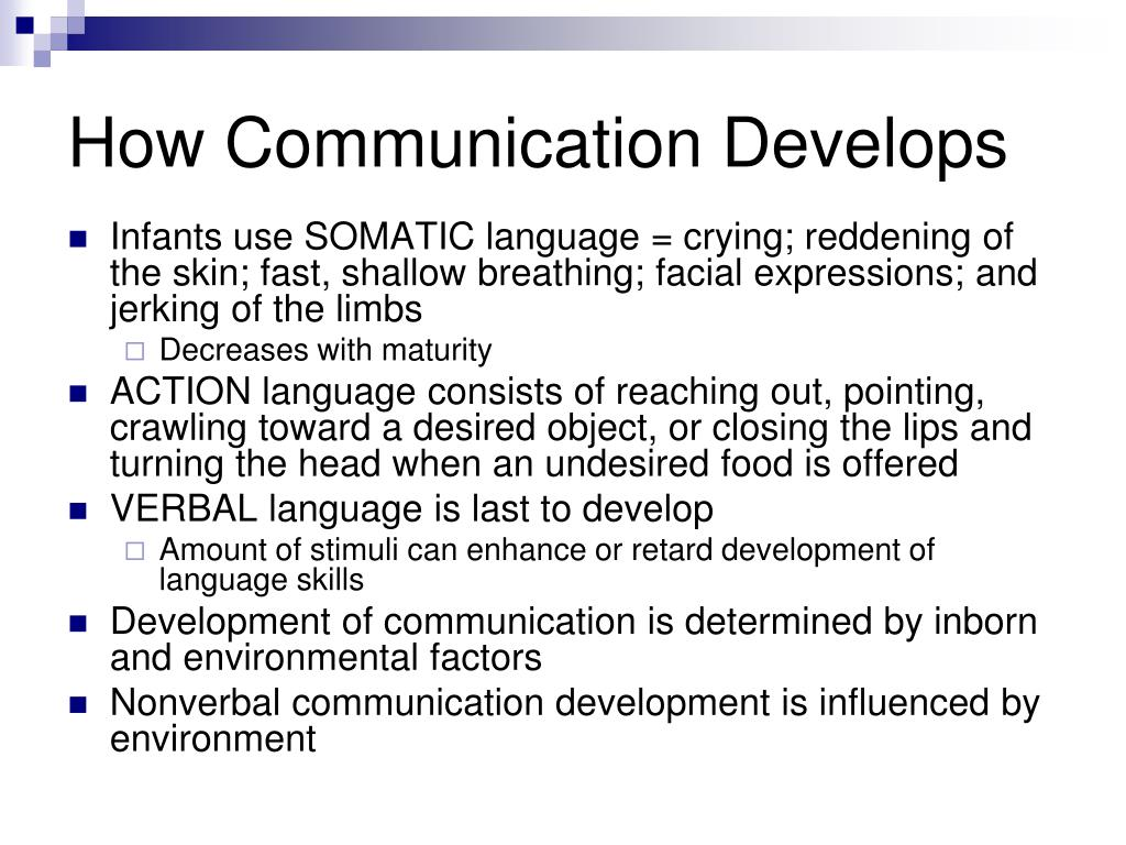 How Communication Develops