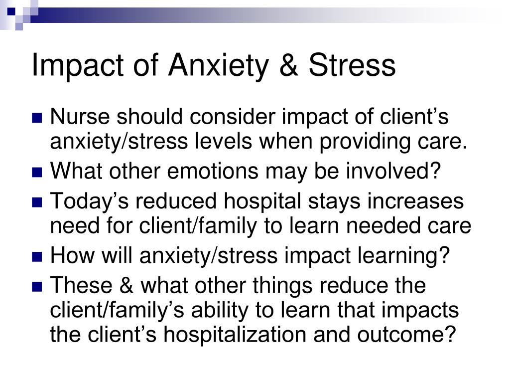 Impact of Anxiety & Stress