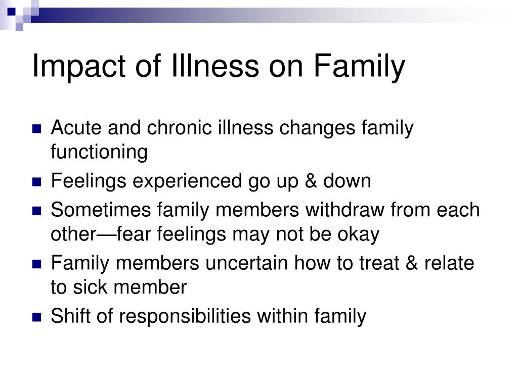 Impact of Illness on Family