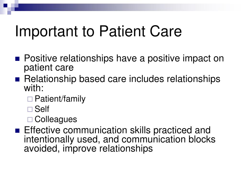 Important to Patient Care