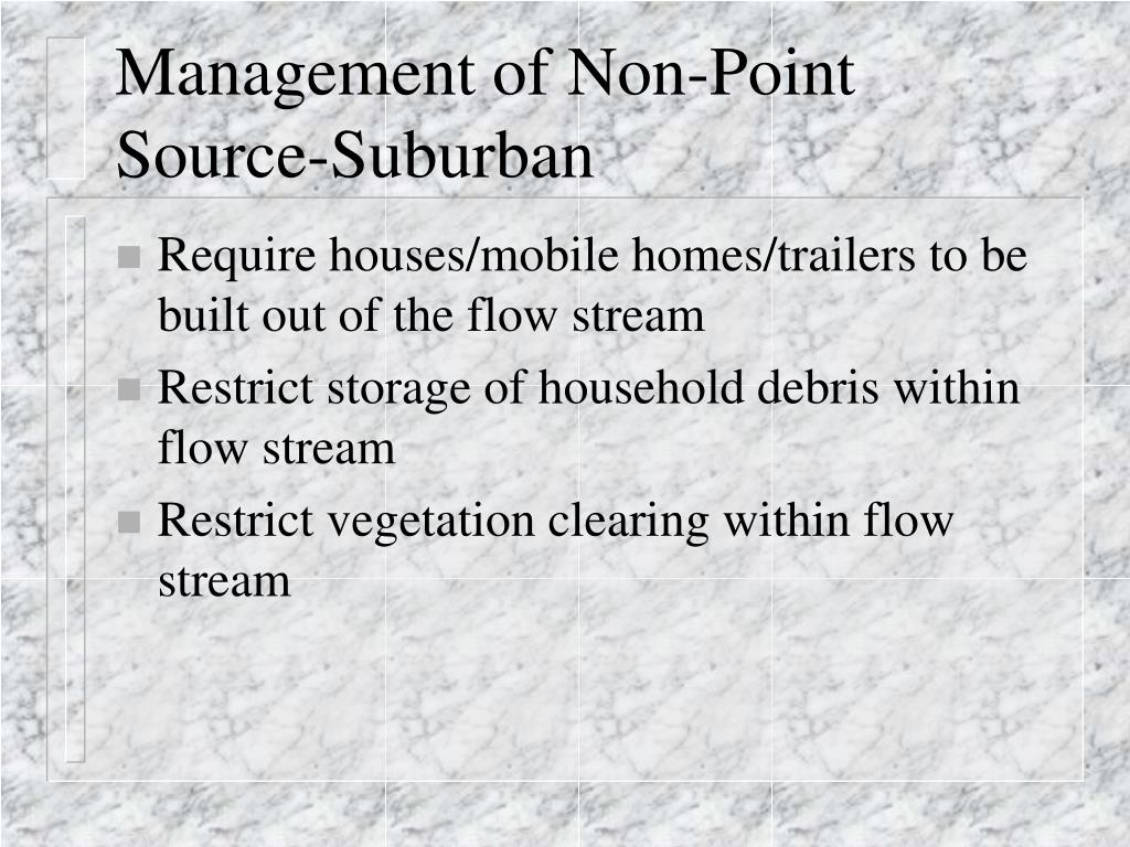 Management of Non-Point Source-Suburban