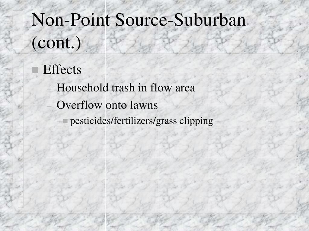 Non-Point Source-Suburban (cont.)