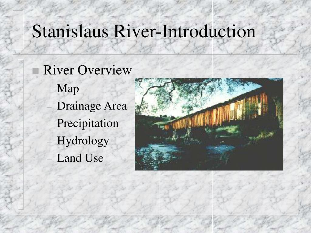Stanislaus River-Introduction