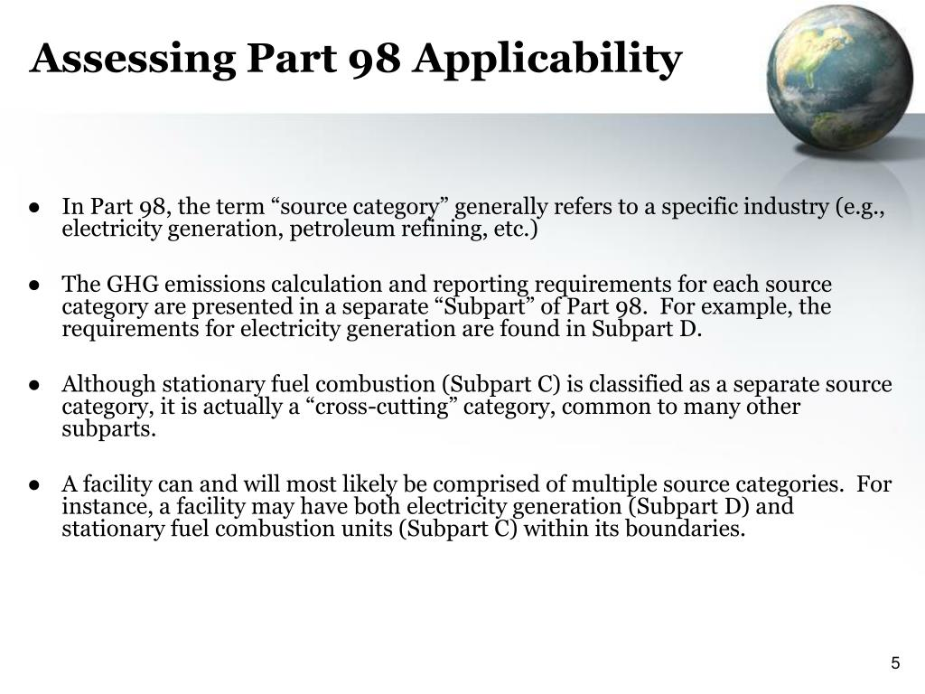 Assessing Part 98 Applicability