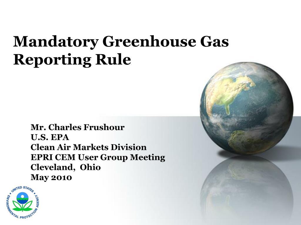 Mandatory Greenhouse Gas Reporting Rule