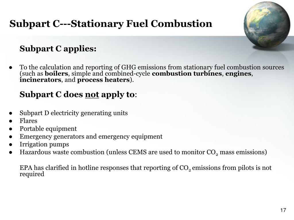 Subpart C---Stationary Fuel Combustion