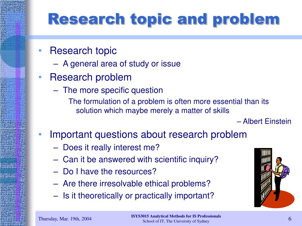 Research topic and problem
