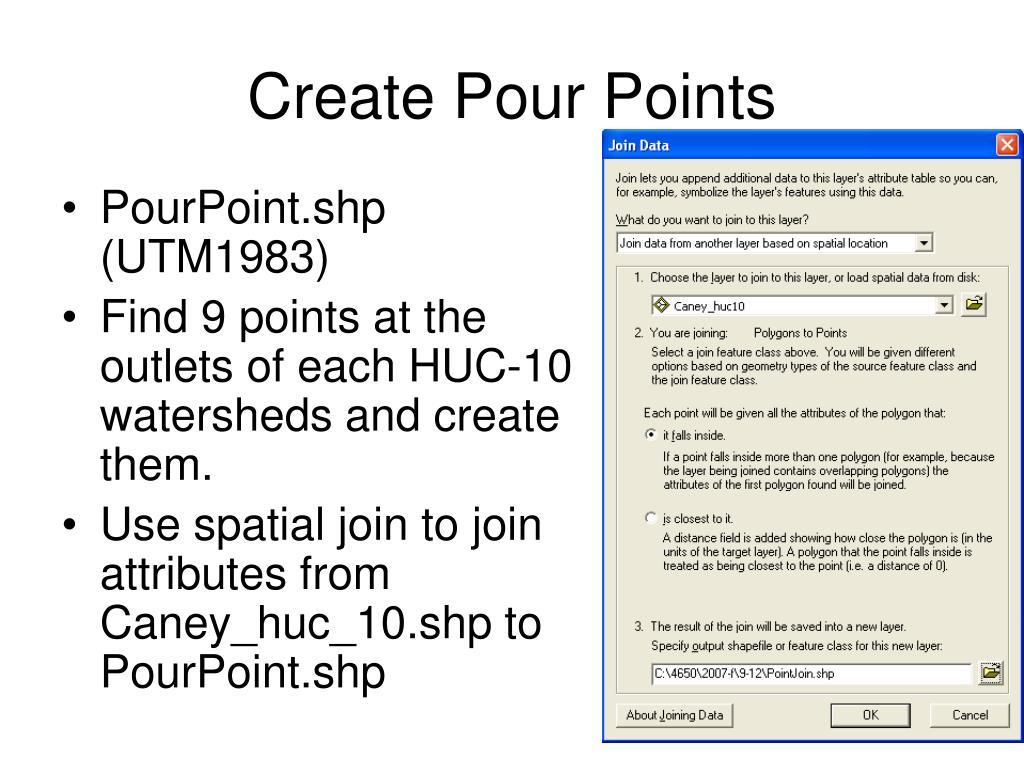 Create Pour Points