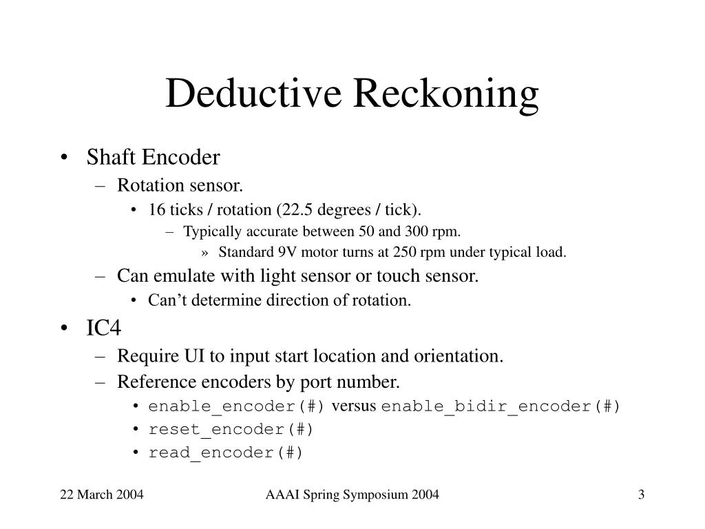 Deductive Reckoning
