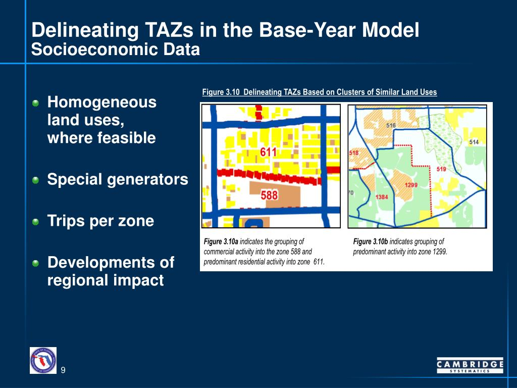 Delineating TAZs in the Base-Year Model