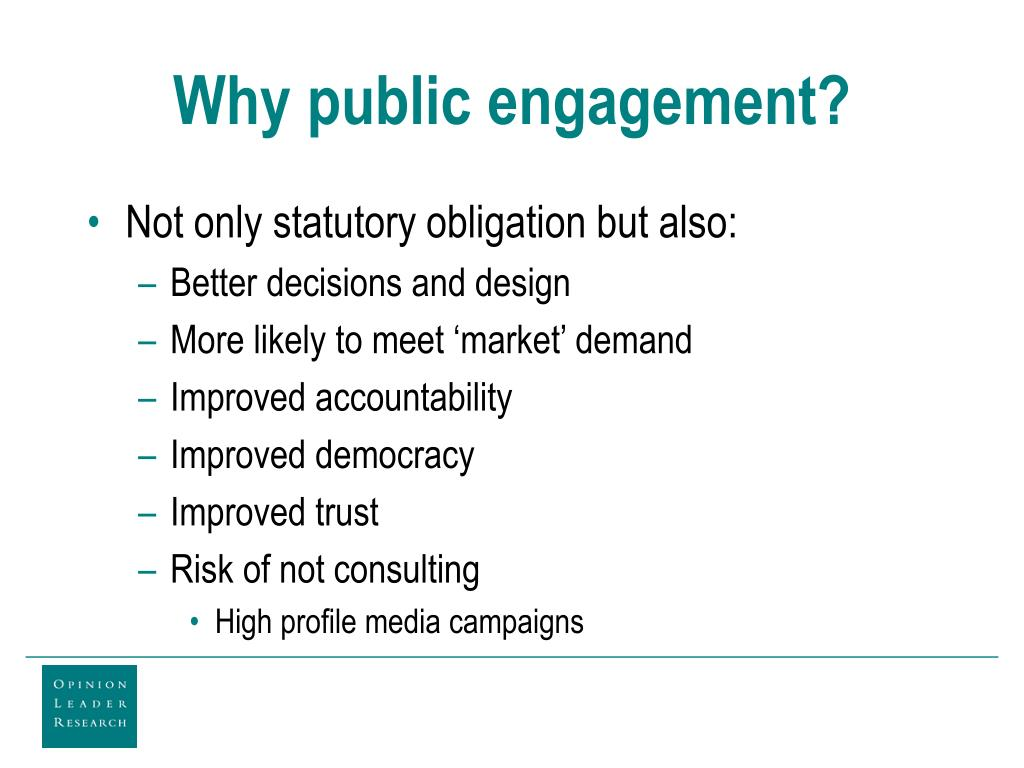 Why public engagement?