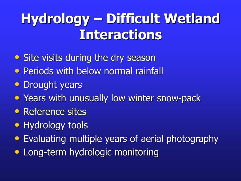 Hydrology – Difficult Wetland Interactions