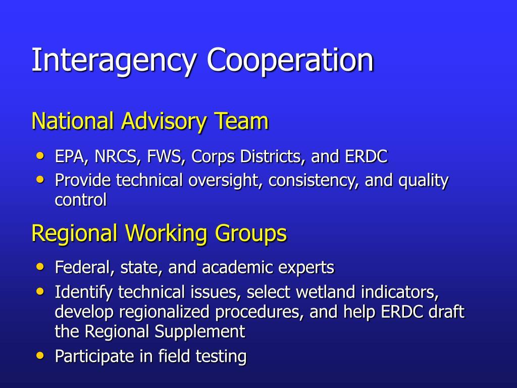 Interagency Cooperation