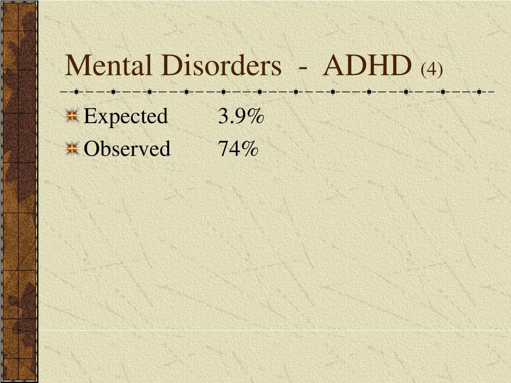 Mental Disorders  -  ADHD
