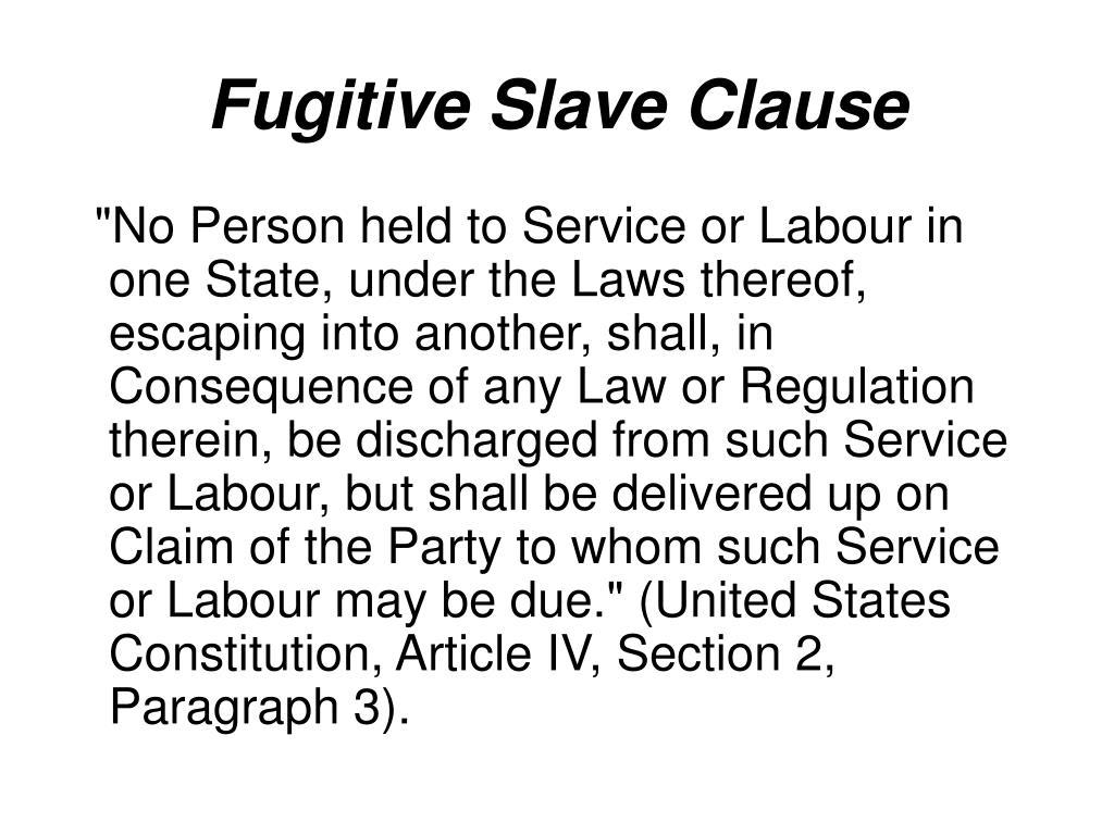Fugitive Slave Clause