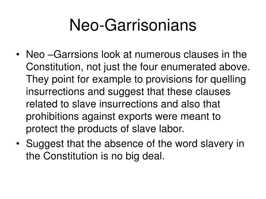 Neo-Garrisonians