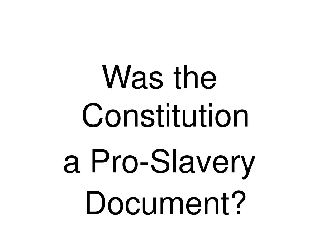 Was the Constitution
