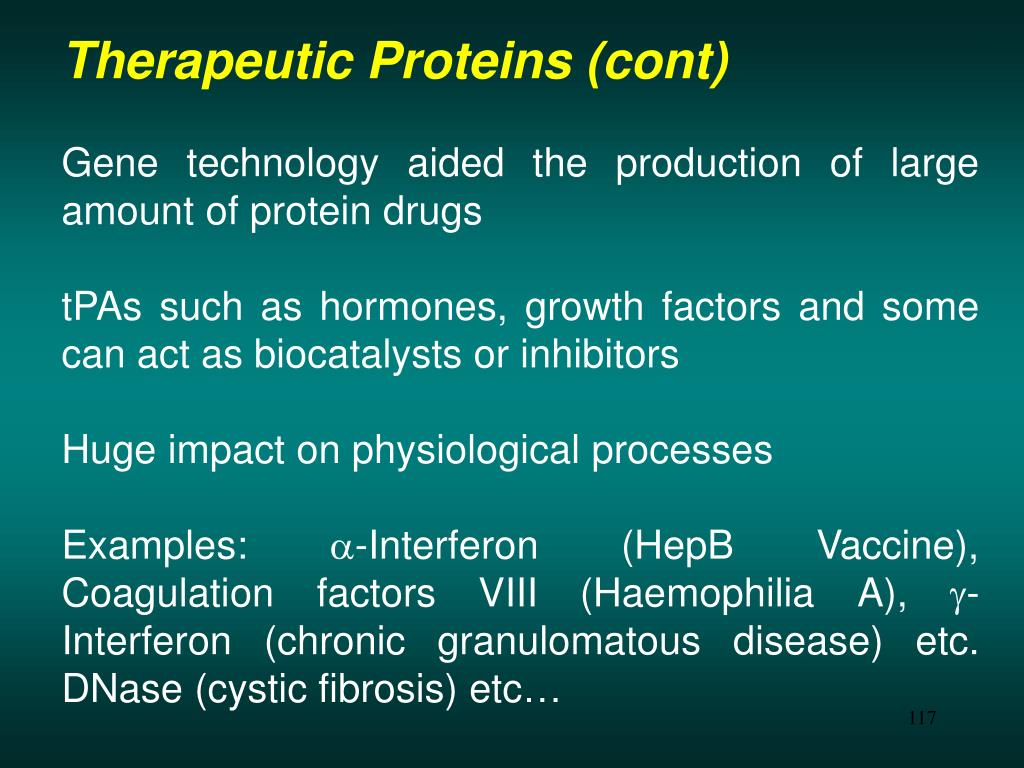 Therapeutic Proteins (cont)
