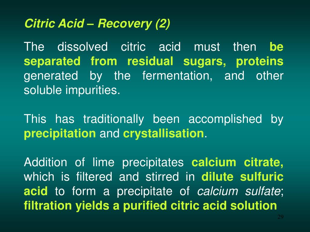 Citric Acid – Recovery (2)