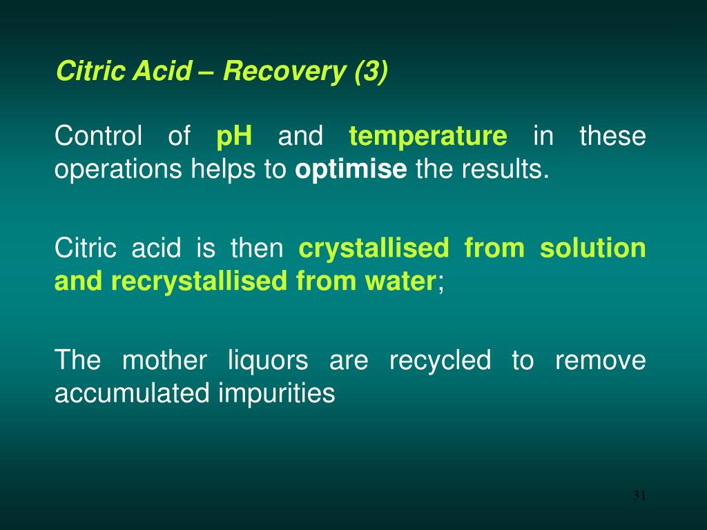 Citric Acid – Recovery (3)