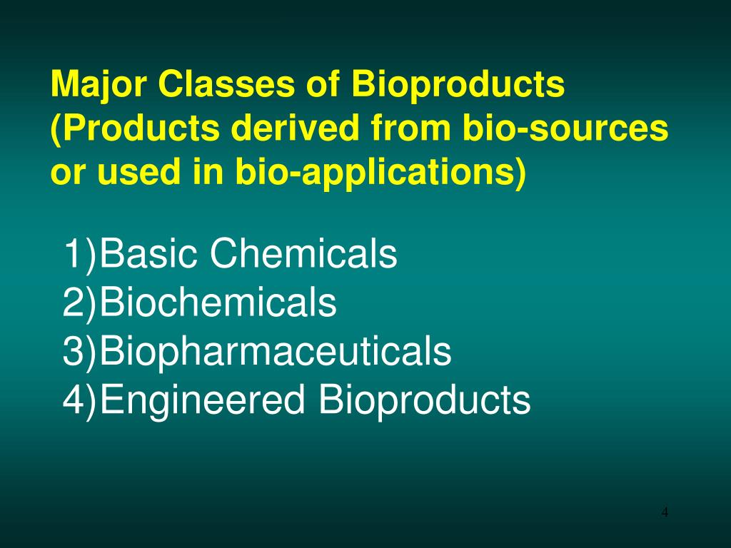 Major Classes of Bioproducts