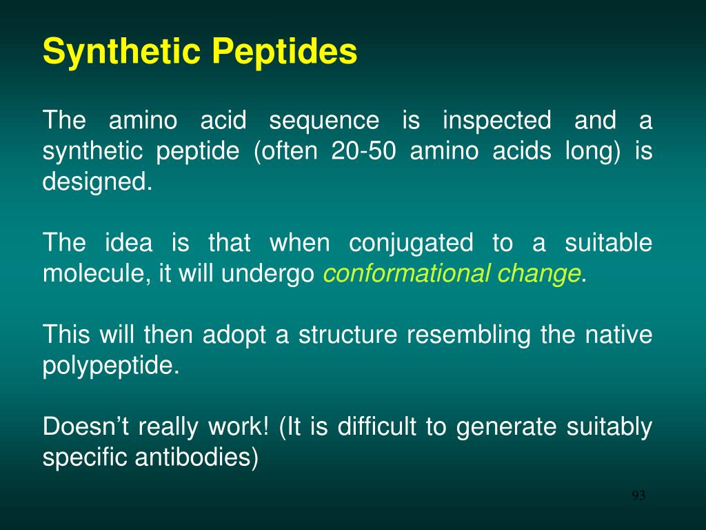 Synthetic Peptides
