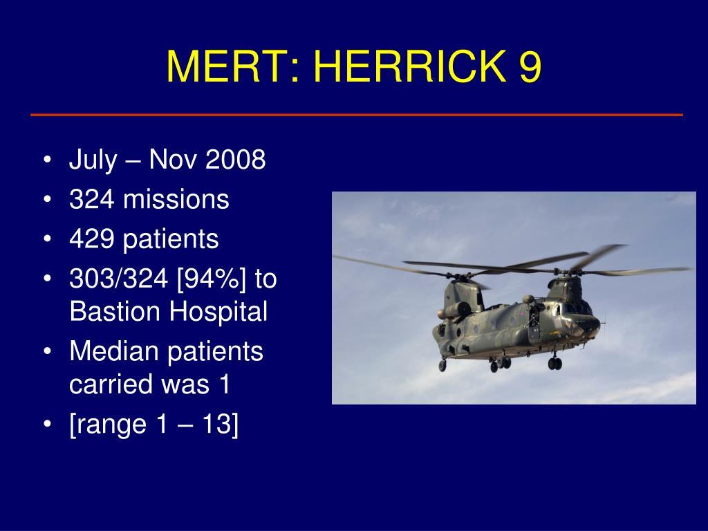 MERT: HERRICK 9