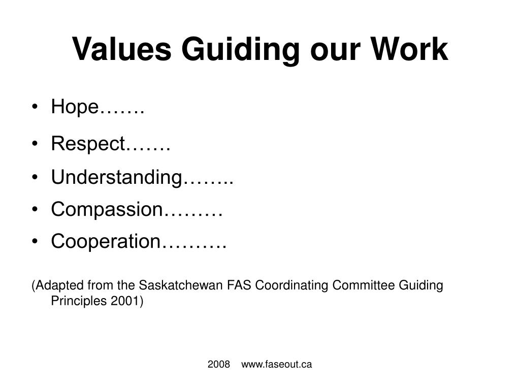 Values Guiding our Work