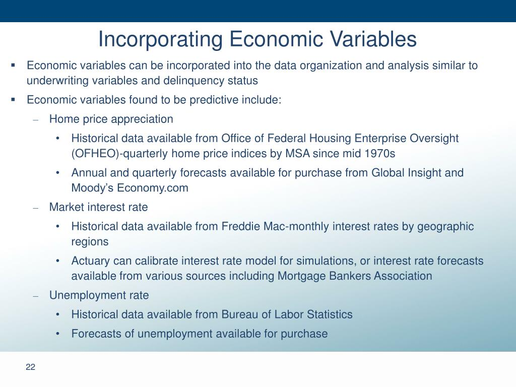 Incorporating Economic Variables