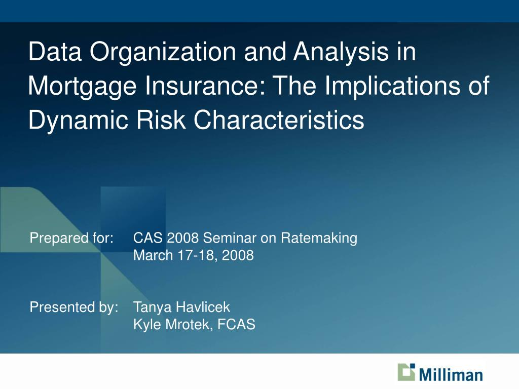 Prepared for: 	CAS 2008 Seminar on Ratemaking