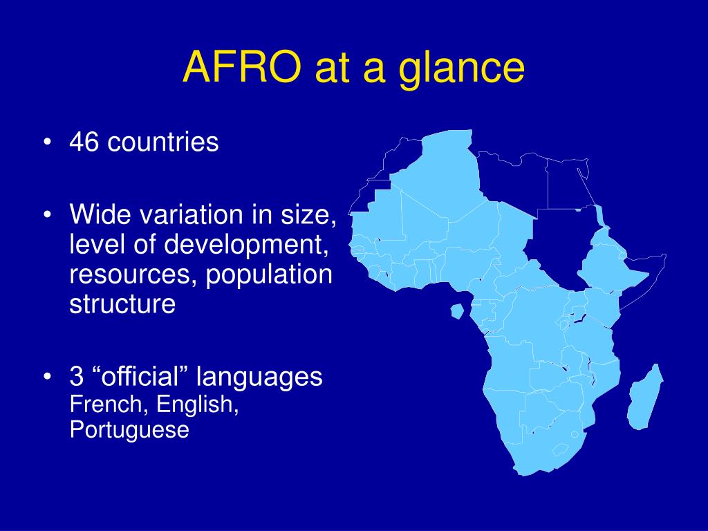 AFRO at a glance