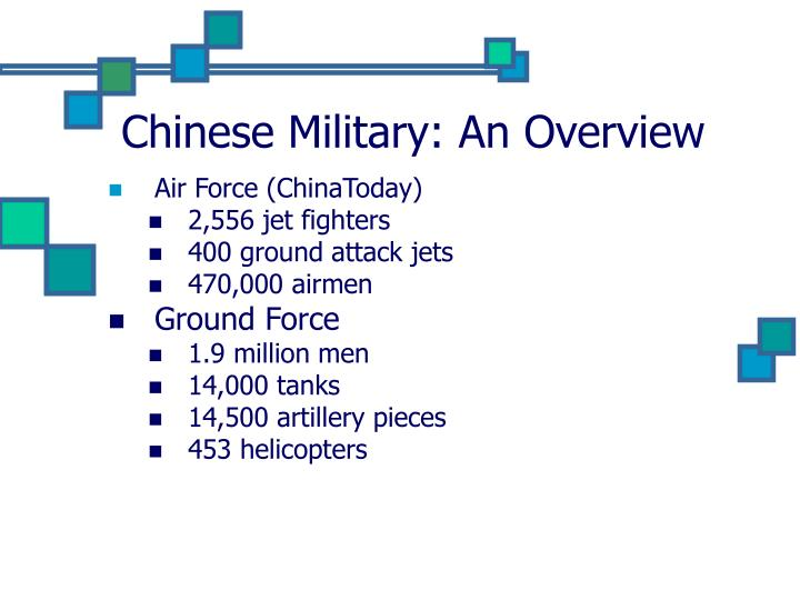 Chinese military an overview