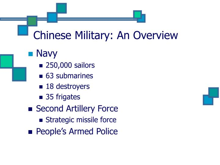 Chinese military an overview3