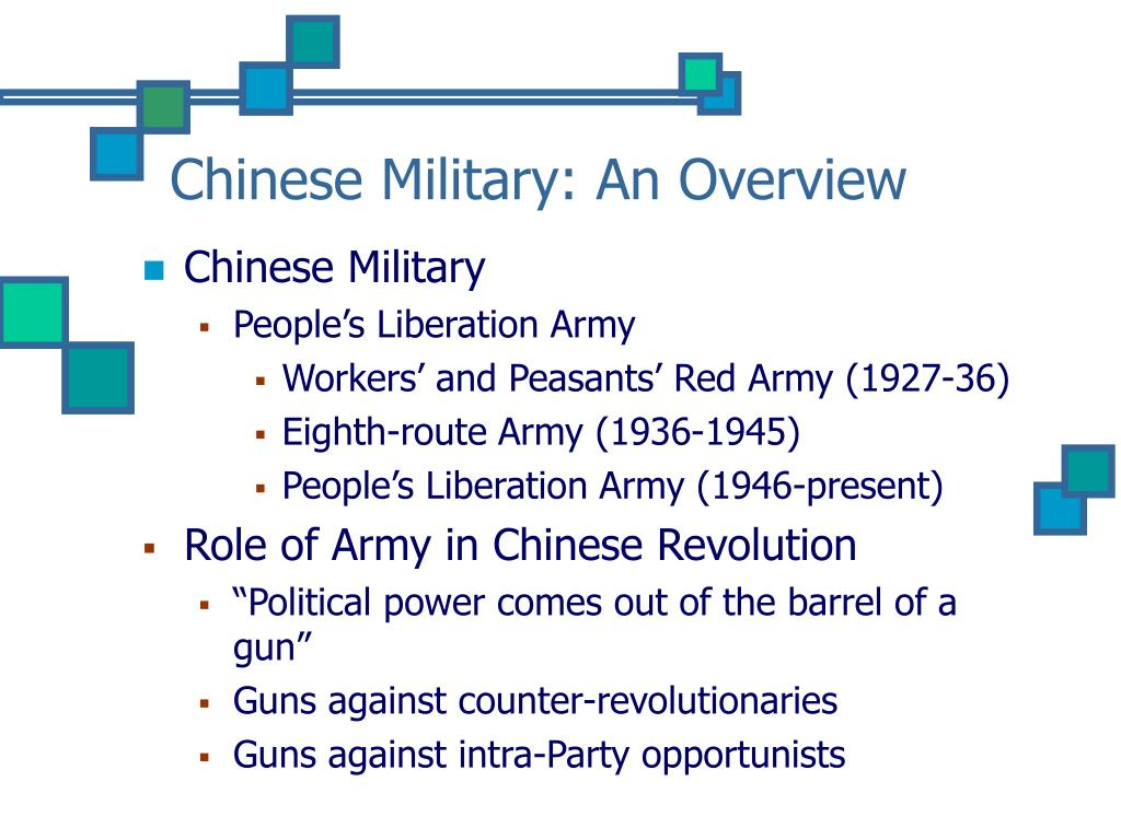 Chinese Military: An Overview