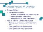 chinese military an overview4