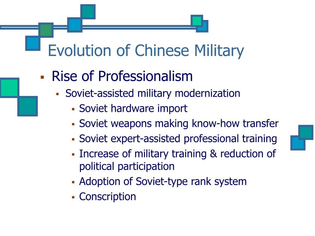 Evolution of Chinese Military
