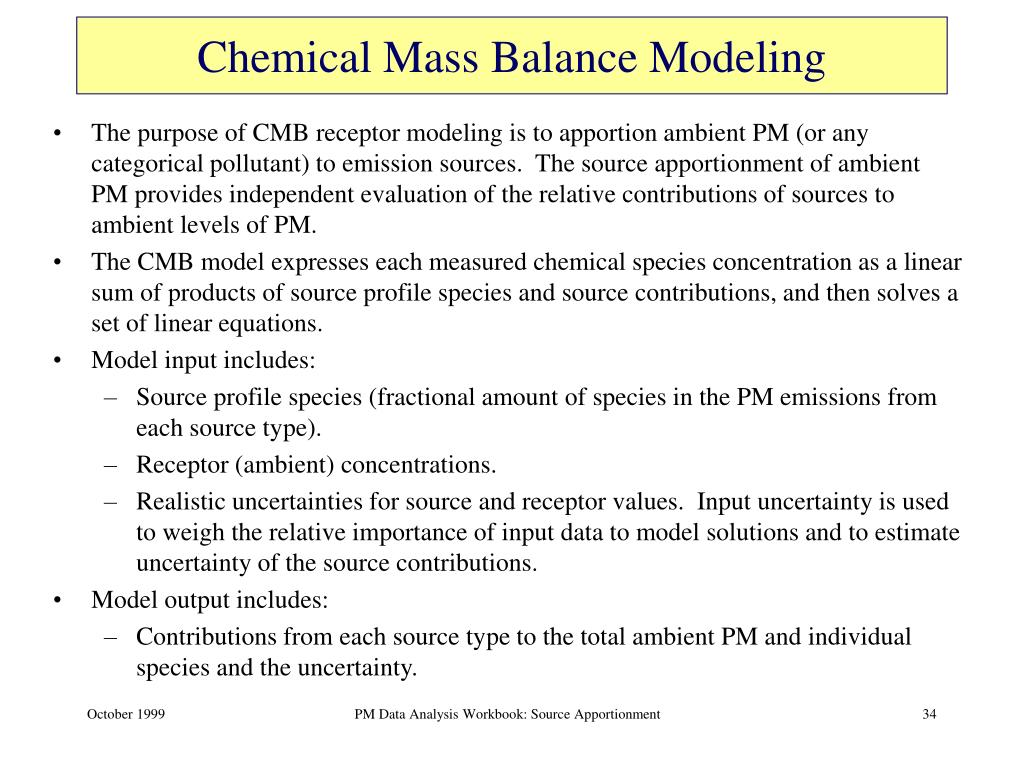 Chemical Mass Balance Modeling